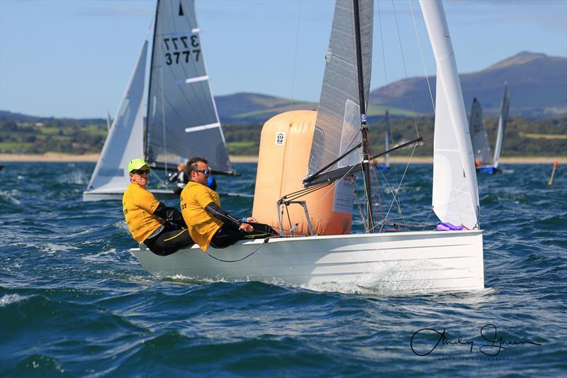 Nick Craig & Alan Roberts win the Aspire Merlin Rocket Championship at Pwllheli - photo © Andy Green / www.greenseaphotography.co.uk