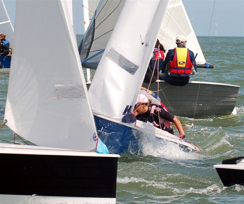 Racing on the final day of the Shepherd Neame Merlin Rocket nationals