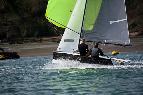 Richard Dee and Chris Gould finished 4th at the Salcombe open meeting
