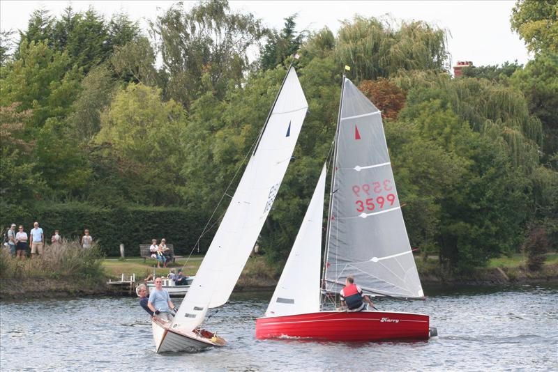 Ben Marshall and Ken Duffell in the Minima Regatta photo copyright Peter Halligan taken at Minima Yacht Club and featuring the Merlin Rocket class