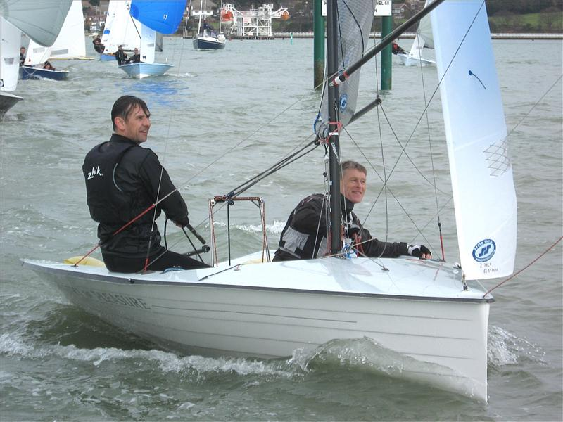 50th Anniversary Warming Pan photo copyright Malcolm Donald taken at Hamble River Sailing Club and featuring the Merlin Rocket class