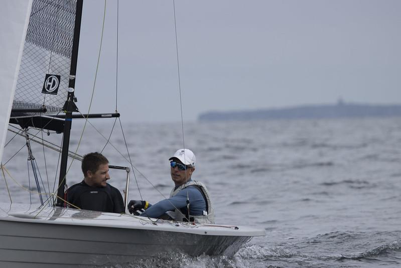 Stuart Bithell and Tom Pygall win the Aspire Merlin Rocket National Championships at East Lothian - photo © Steve Fraser / ELYC
