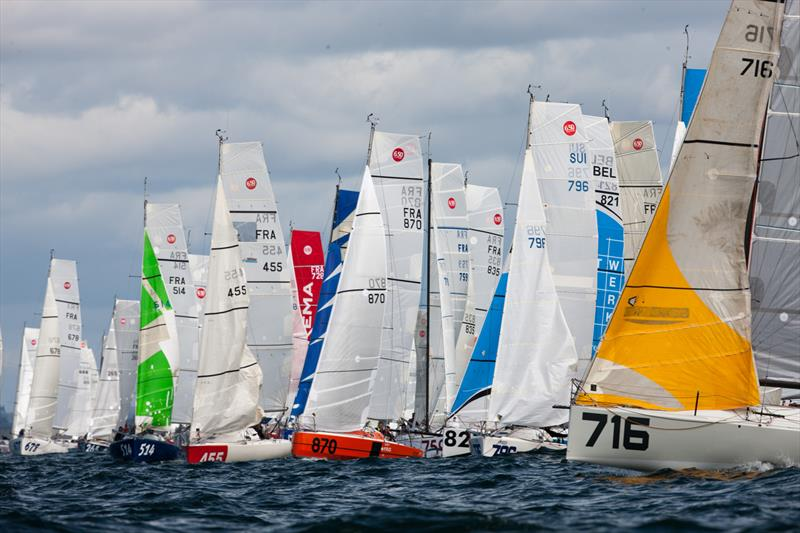 Mini Transat 2015 Race Start - photo © Christophe Breschi / www.breschi-photo-video.com