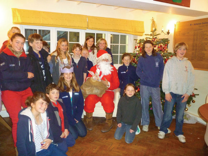Christmas festivities during the South Zone Squad Training weekend at Itchenor photo copyright Zoe Bellfield taken at Itchenor Sailing Club and featuring the Mirror class