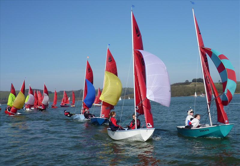 Mirror Joint Squad Training at Carsington photo copyright Dave Woodhead taken at Carsington Sailing Club and featuring the Mirror class