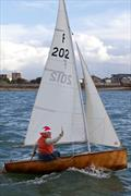 Angus Ross helming 'Kem' in the 2013 Portsmouth Sailing Club Hot Turkey Race