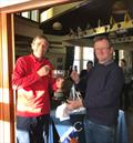 Steve Bratt from Grace and Danger collecting the Crouch YC Autumn Series Trophy from Phillip Harbott © Sarah Jane Vethaak