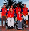 2012 US Paralympic Team (l to r) back row: Mark LeBlanc, JP Creignou, Brad Johnson, Tom Brownm, front row: Paul Callahan, Jen French