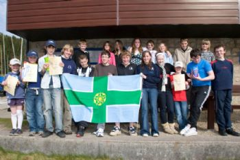 The competitors during the Derbyshire Youth Sailing event at Errwood