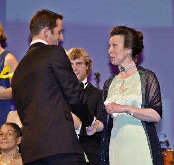 HRH The Princess Royal greets Ben Ainslie