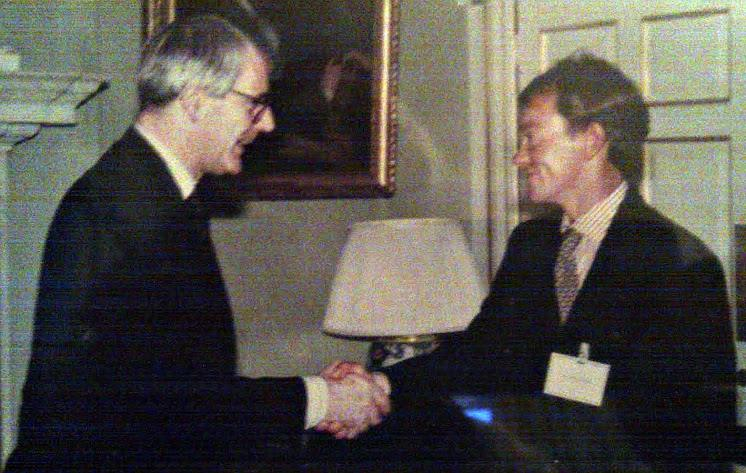 John Merricks meeting John Major at 10 Downing Street - photo © Archive