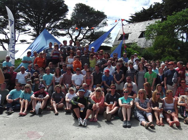 Competitors after the Carnac 2014 prize giving - photo © Yacht Club de Carnac