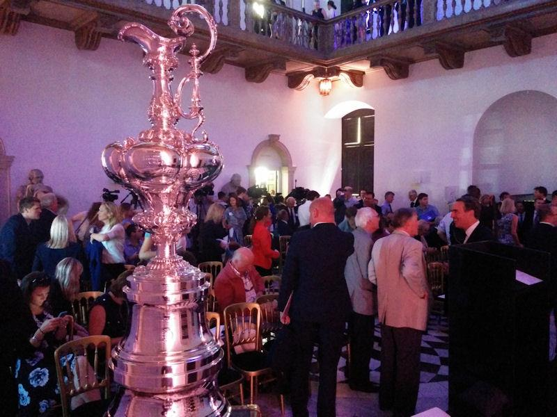 The America's Cup at the Ben Ainslie Racing Press Conference - photo © Mark Jardine