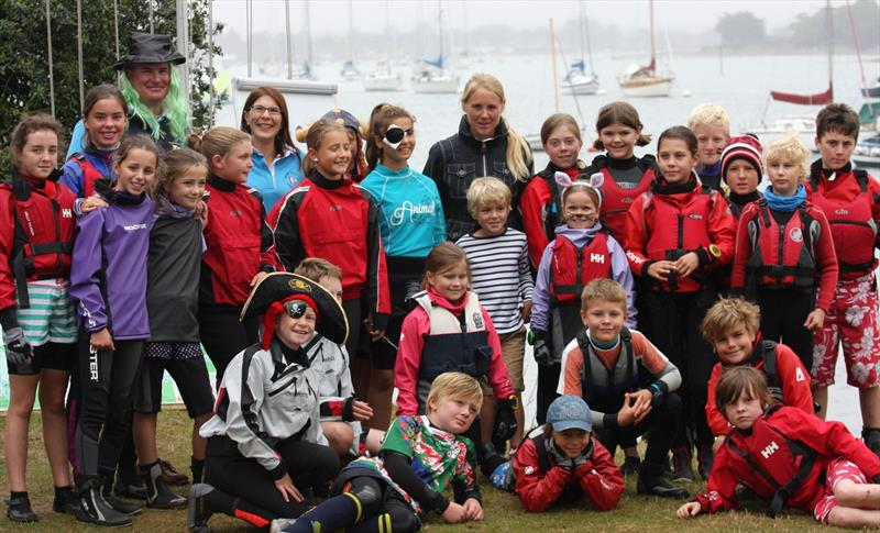 Sarah Ayton and cadets at Bosham Junior Week - photo © Dawn Chesher & Greg Grant