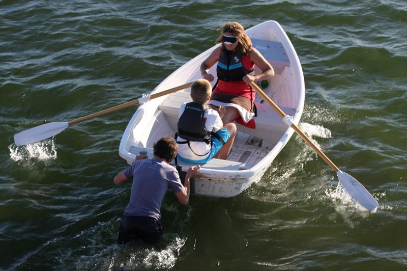 Rufus and Jane Mackenzie win the blind rowing at Bosham Junior Week - photo © Dawn Chesher & Greg Grant
