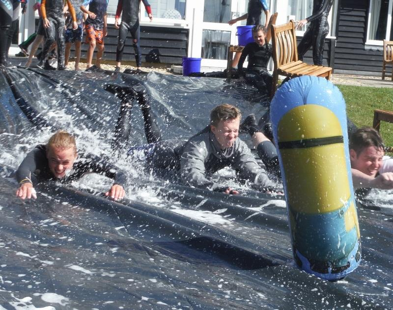 Waterslide fun at Chichester Yacht Club Dinghy Week - photo © CYC