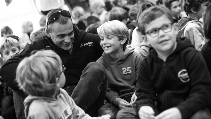 Spindrift racing continues to develop its Schools programme - photo © Eloi Stichelbaut / Spindrift racing