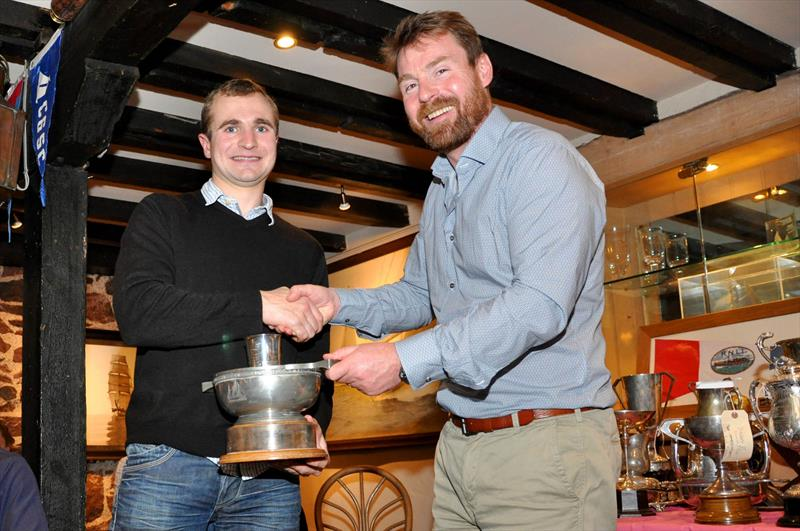 Ben Wilcox was presented with 4 trophies from Robbie Lawson, Commodore at the East Lothian Yacht Club Prize Giving - Ben sails in an RS400 dinghy with Jim Sinclair - photo © David Farmer