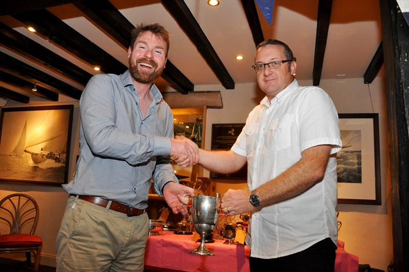 Martin Bailie was presented with 4 trophies by Robbie Lawson, Commodore at the East Lothian Yacht Club Prize Giving - Martin sails a Medina 20 yacht - photo © David Farmer