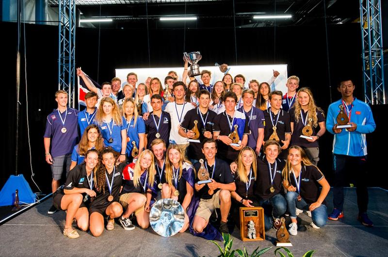 Aon Youth Worlds winners - photo © Pedro Martinez / Sailing Energy / World Sailing
