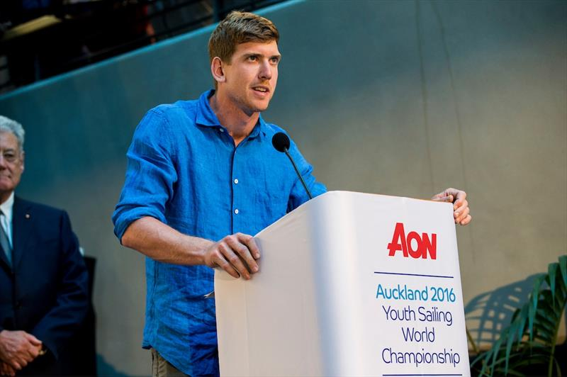 Peter Burling at the Aon Youth Worlds prize giving - photo © Pedro Martinez / Sailing Energy / World Sailing