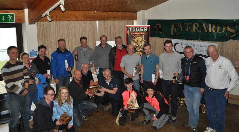 Prize winners in the John Merricks Tiger Trophy - GJW Direct Sailjuice Winter Series Round 6 - photo © Jon Williams