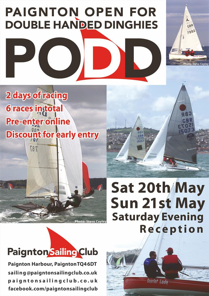 Paignton PODD poster photo copyright Arthur Phillips taken at Paignton Sailing Club