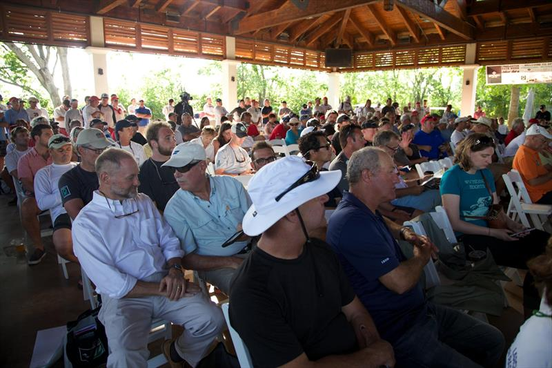 Hundreds of skippers and crews gather for the all-important Skippers Briefing at Sperry Charleston Race Week - photo © Meredith Block