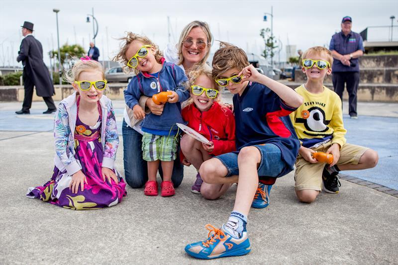 Caroline Dinenage with some Little Shipmates during the Gosport Marine Festival - photo © Gosport Marine Festival