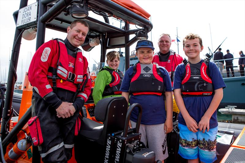 Visitors to Gosport Marine Festival with the GAFIRS crew - photo © Gosport Marine Festival