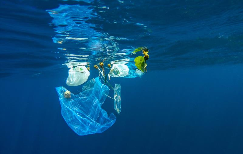 Plastics in the sea photo copyright Volvo Ocean Race  taken at