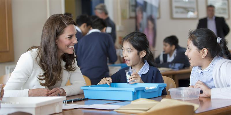 HRH Duchess of Cambridge at the Land Rover BAR Roadshow, Docklands Water Sports and Sailing Centre, East London - photo © onEdition