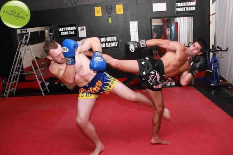 Kyle (right) Thai Boxing - photo © Fitch Photography