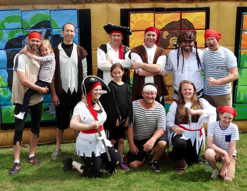 Pirates from Utlility Warehouse in the charity It's a Knockout - photo © Turn to Starboard