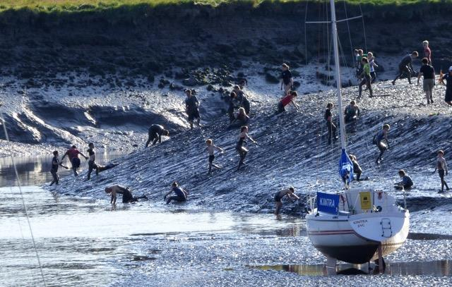 Mudlarks; slip-sliding delights (for some!) at Solway Yacht Club Cadet Week - photo © Ian Purkis