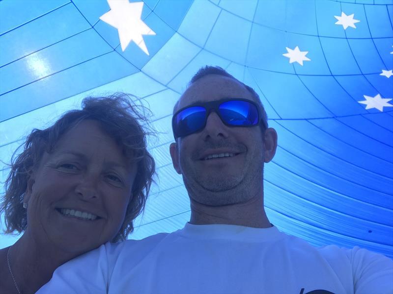 Sarah Goddard-Jones and Pete Lowndes aboard Wine Dark Sea - photo © Pete Lowndes