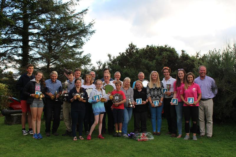 Prize winners show off their trophies at Solway YC Kippford Week - photo © Beatrice Overend