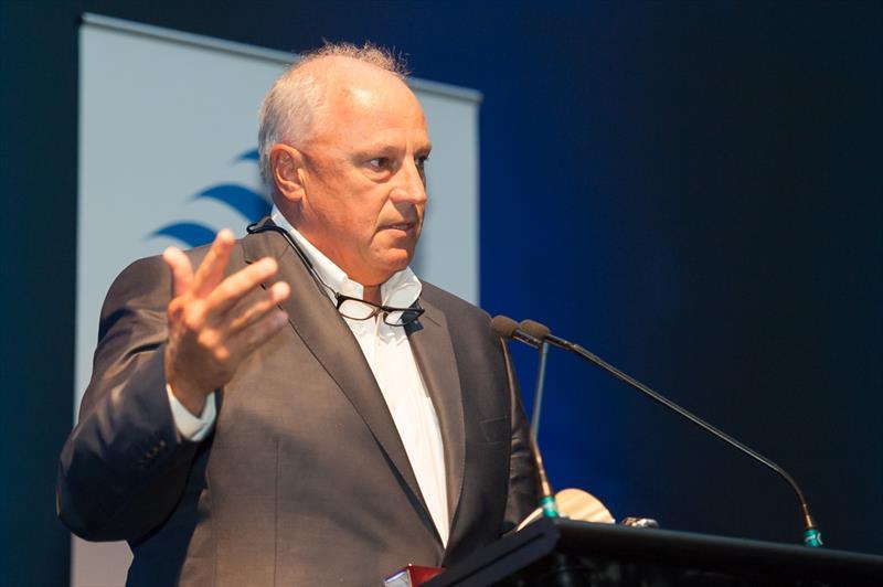 Iain Murray during the 2014 Australian Sailing Awards - photo © Richard Wearne