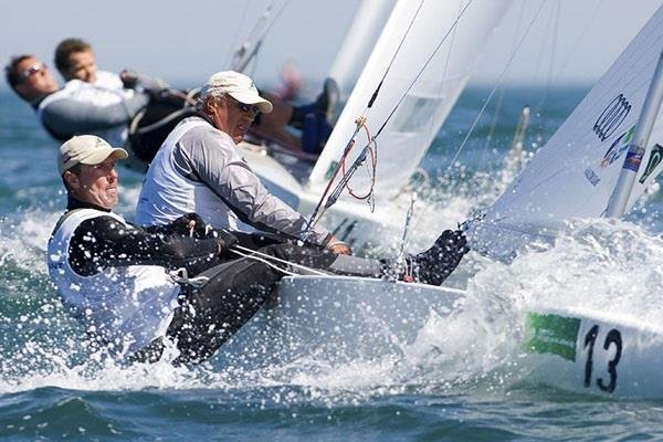 Iain Murray & Andrew Palfrey racing in the Star class in 2008 photo copyright Fred Elliott taken at Australian Sailing
