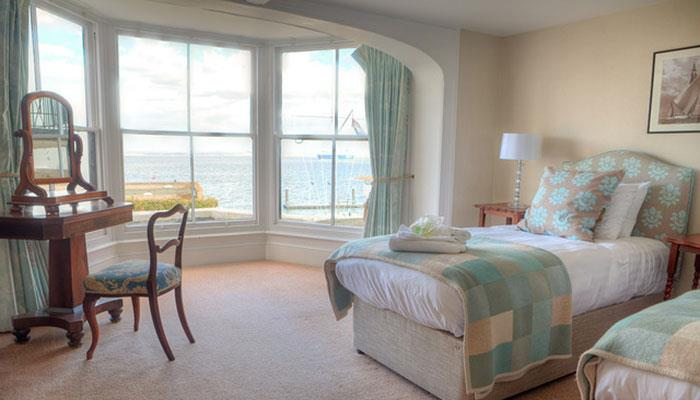 A room with a view! Double up for a two-night stay at the Royal Ocean Racing Club, Cowes, incl. breakfast & a glass of Prosecco! - photo © RORC