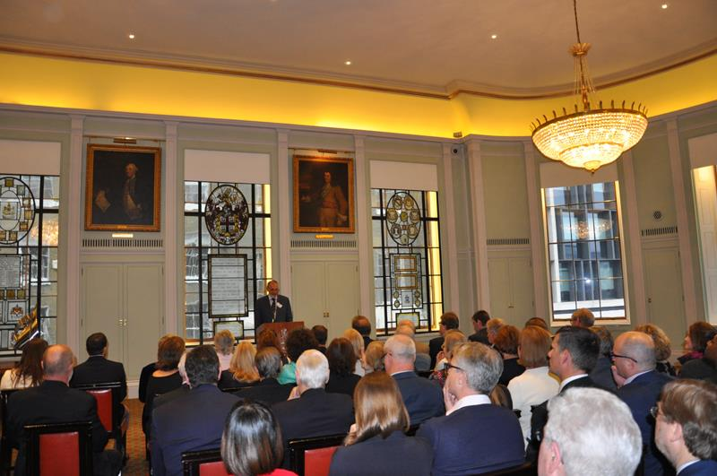 Barry Pickthall, Chairman of the Yachting Journalists' Association addressing the annual Yachtsman of the Year Awards Ceremony at Trinity House, London - photo © Cliff Webb