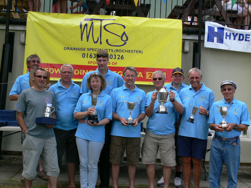 Medway Dinghy Regatta Silverware winners