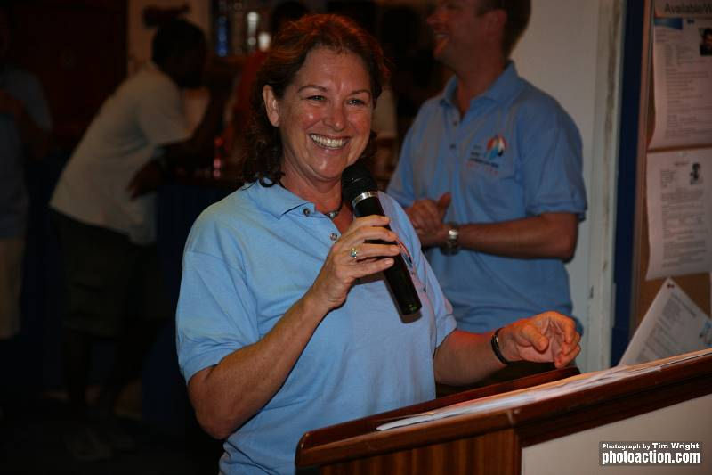Co-Ordinator, Helen Spooner will hold a briefing for volunteers before the RORC Caribbean 600 start