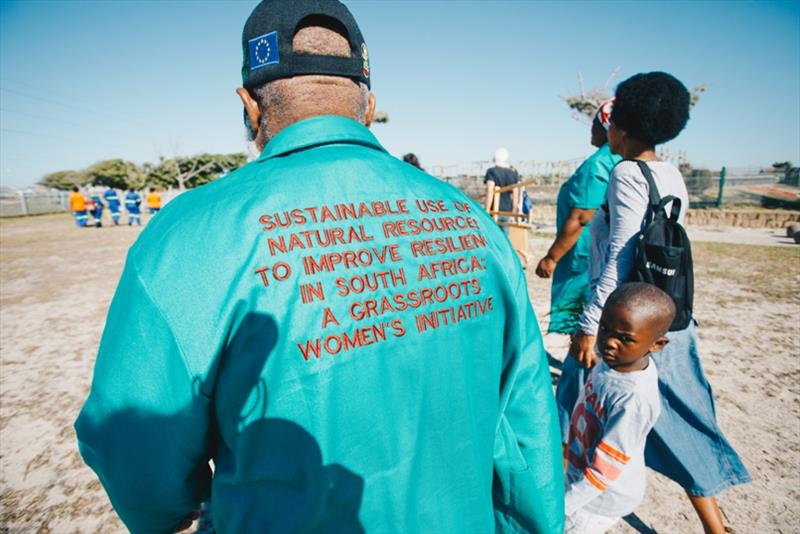 The team met with the Grassroots Women's Intative who's been leading the creation of community gardens and parks in the township photo copyright Atila Madrona / Vestas 11th Hour Racing taken at