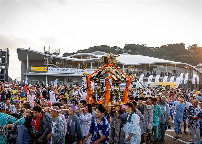 Welcome party at sunset - Hempel World Cup Series Enoshima - photo © Sailing Energy / World Sailing