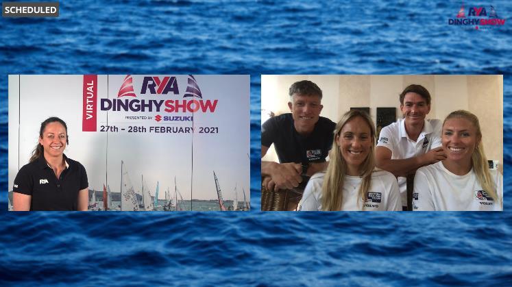 Team GB sailors at the virtual RYA Dinghy Show - photo © RYA