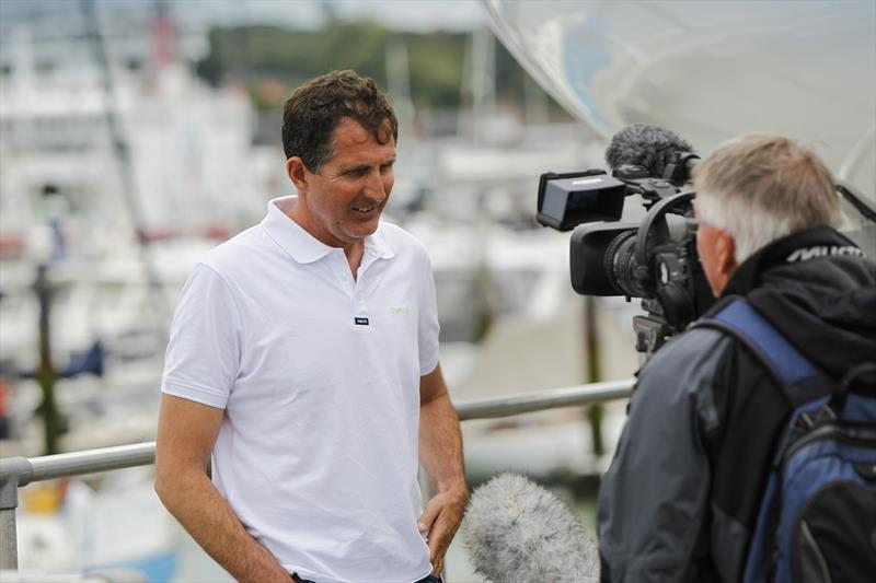 Brian Thompson, one of Britain's leading multihull skippers, who set two new speed records around the Isle of Wight in his trimaran Phaedo 3 - photo © Paul Wyeth / www.pwpictures.com