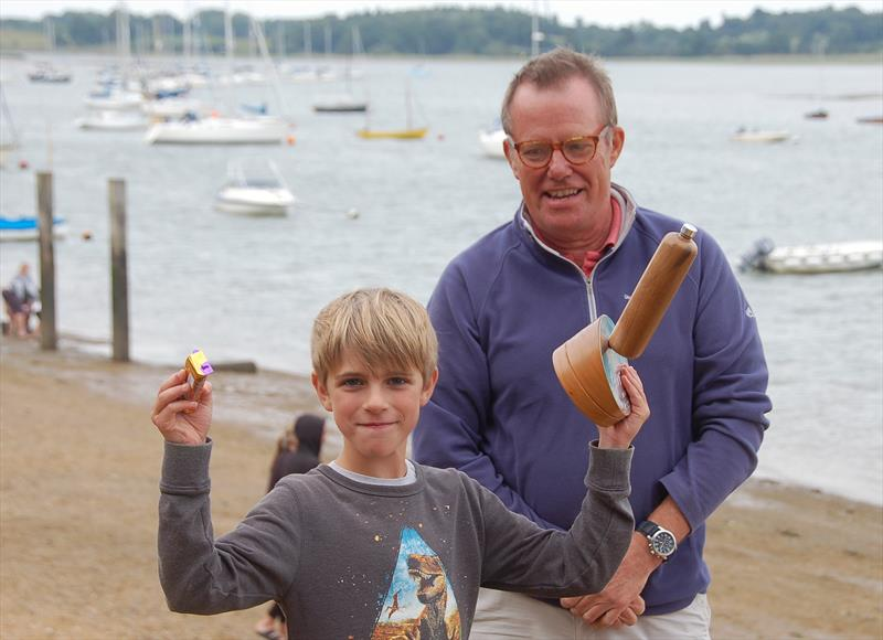 Oliver Stollery wins the Junior Waldringfield Bottle Boat Championship - photo © Roger Stollery