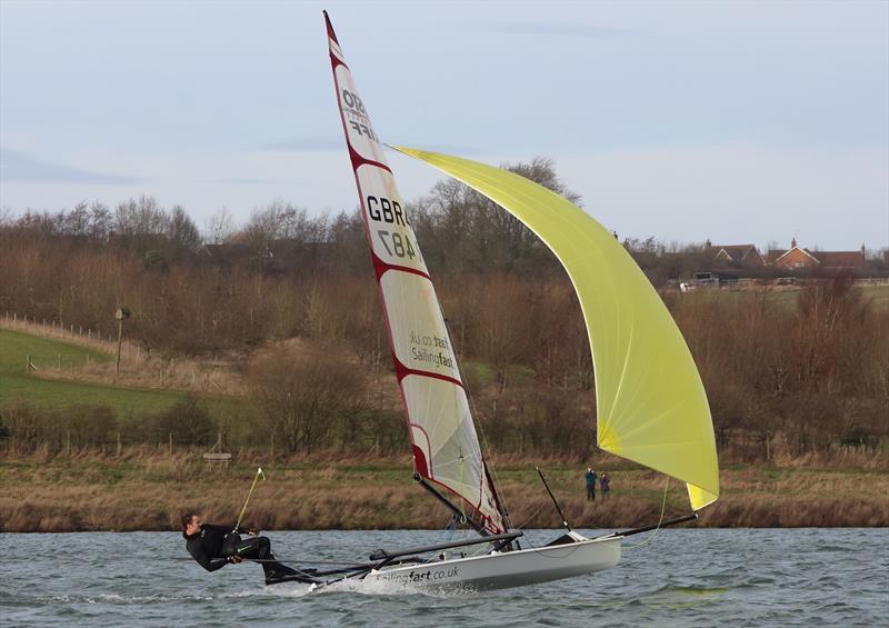 Ben Schooling winner of the asymmetric fleet (Musto Skiff) at the Steve Nicholson Trophy - photo © Paul Williamson