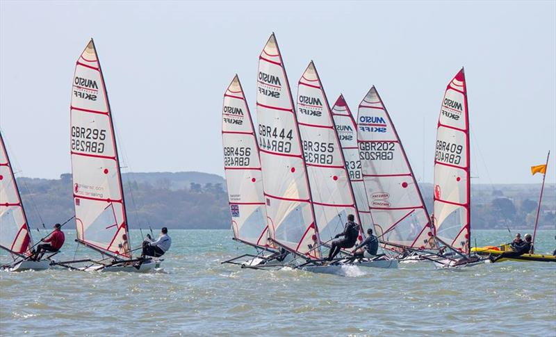 Musto Skiffs at Stokes Bay - photo © Tim Olin